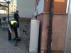 """Das Projektteam """"LED-Farbenspiel"""" beim Aufbau - Rathaus Meerane"""