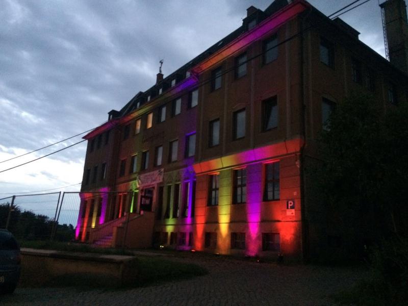 LED Effektlampen am Haus