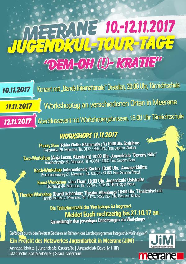 Jim-kultourtage-2017 in Jugendkult-TOUR-Tage - 10. - 12.11.2017