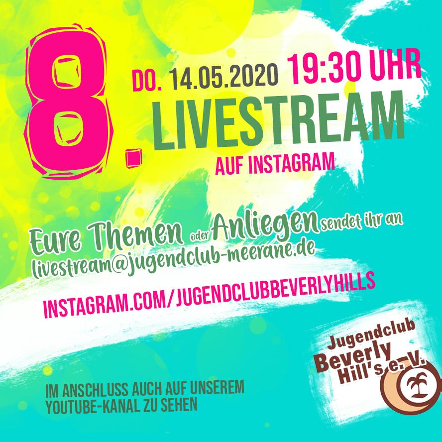 Streamankuendigung in 8. Livestream bei instagram – 14.05.2020