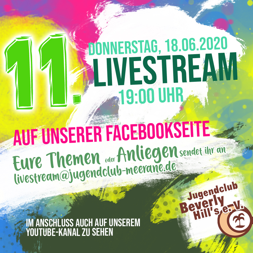 Streamankuendigung in 11. Livestream - 18.6.2020