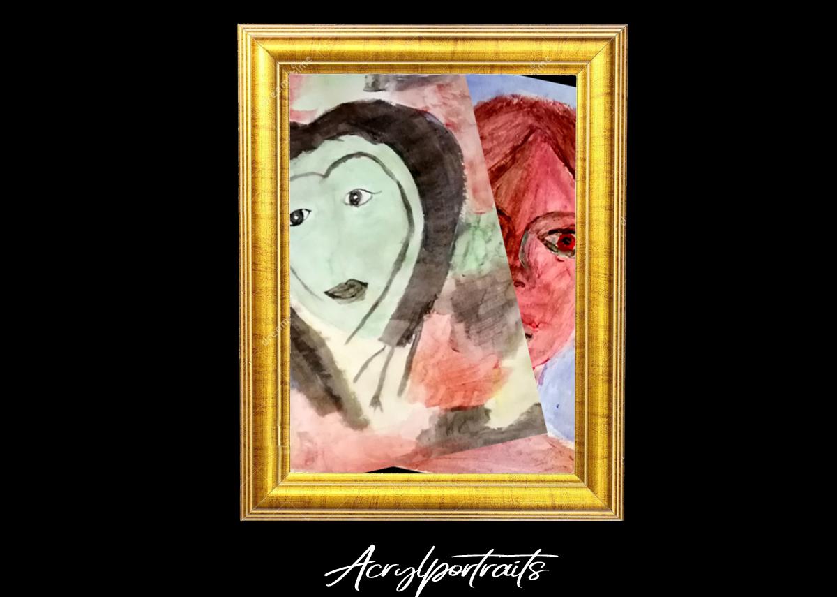 Acrylportraits in Digitale Ausstellung - Sommer-Kunst-Werkstatt 2020 Meerane