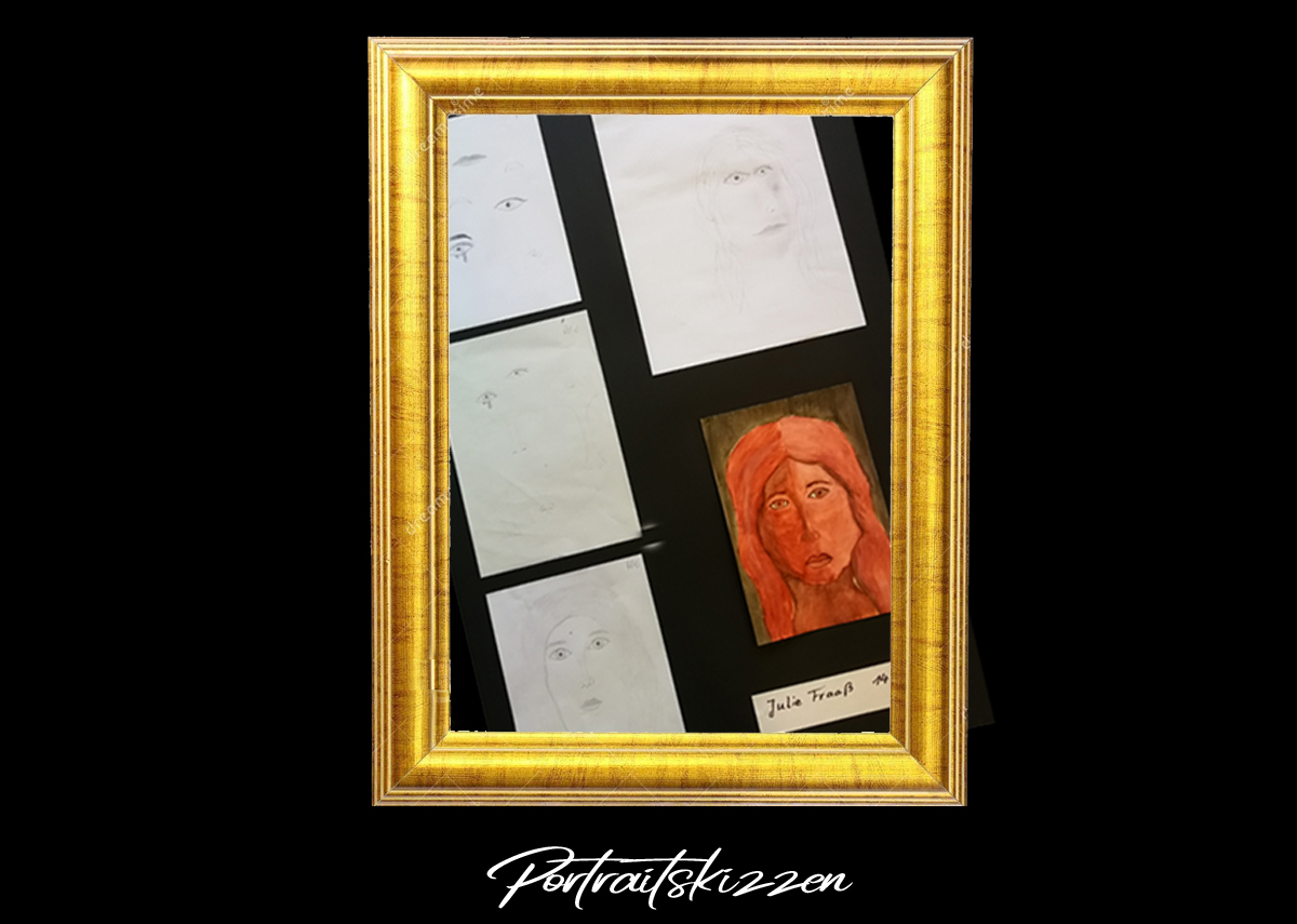 Portraitskizzen in Digitale Ausstellung - Sommer-Kunst-Werkstatt 2020 Meerane